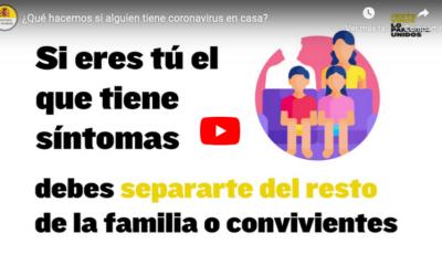 ¿Que hacemos si alguien tiene coronavirus en casa?